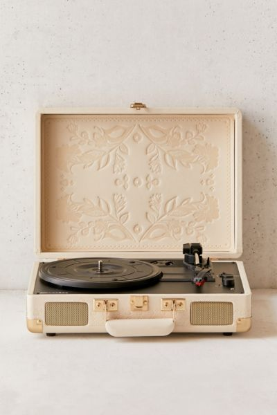 "Crosley Portable USB Turntable ""Floral Embossed"""
