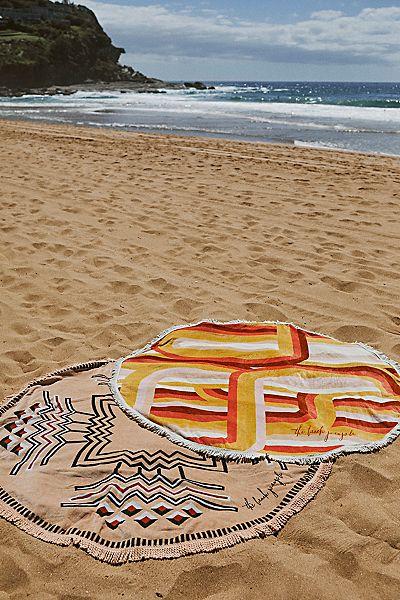 "Round Beach Towel ""La Plage"""