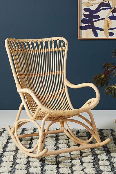 "Rattan Rocking Chair ""Sika Monet"""