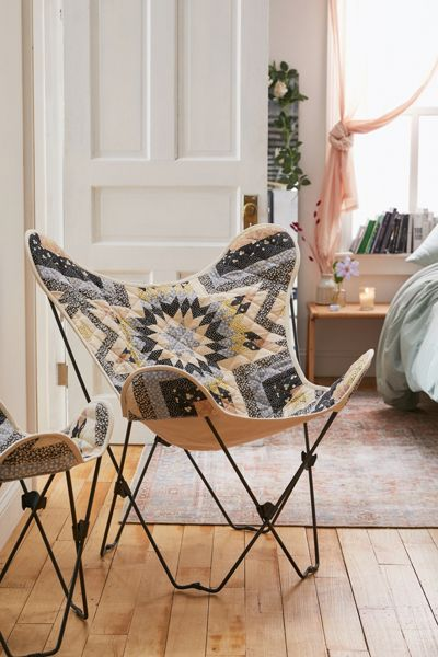 Vintage Quilted Butterfly Chair
