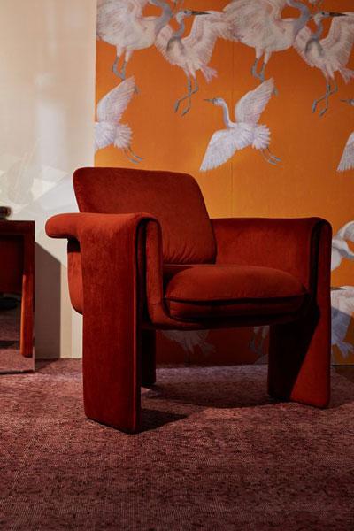 """Velvet Modern Chair """"Floria"""""""