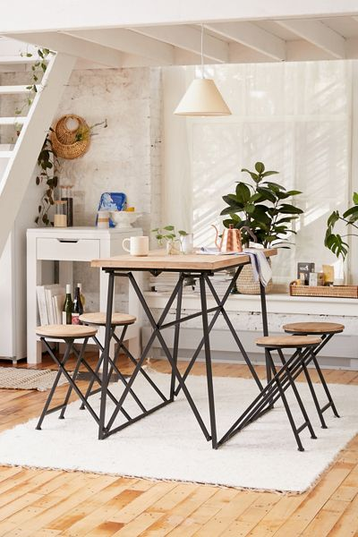 Tall Rustic Dining Table Set