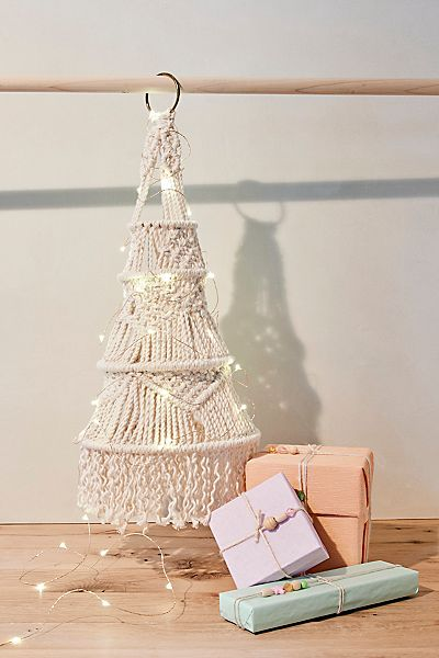 Macrame Holiday Christmas Tree