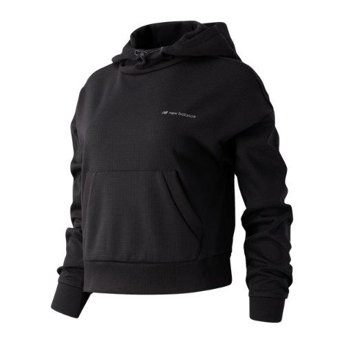New Balance 03553 Women's Sport Style Texture Hoodie - Black (WT03553PHM)
