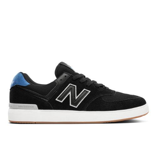 New Balance All Coasts AM574 Men's Court Classics Shoes - Black (AM574BGR)