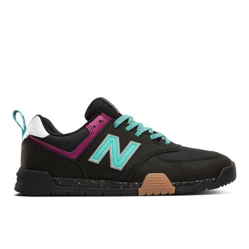 New Balance All Coasts AM574 Court Classics Shoes - Black / Blue (AM574TAC)