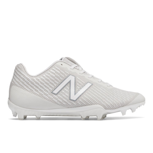 New Balance Burn X Low-Cut Cleat Men's Lacrosse Shoes - White (BURNXLWT)