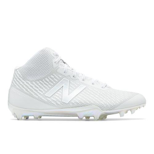 New Balance Burn X Mid-Cut Cleat Limited Edition Men's Lacrosse Shoes - White (BURNXMHR)