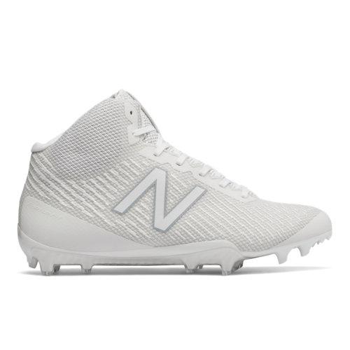 New Balance Burn X Mid-Cut Cleat Men's Lacrosse Shoes - White (BURNXMWT)