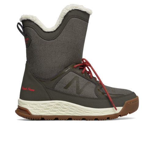 New Balance Fresh Foam 2100 Boot Women's Winter Boots - Olive / Red (BW2100OR)