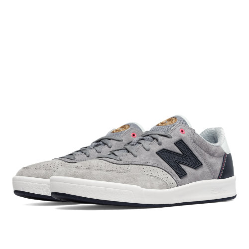 New Balance 300 Tournament Suede Men's Court Classics Shoes - Grey / Light Grey / Dark Grey (CRT300GU)