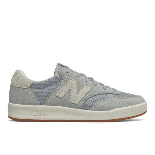 New Balance Suede 300 Men's Court Classics Shoes - Silver / Off White (CRT300SR)