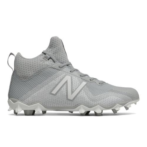 New Balance FreezeLX Cleat Men's Lacrosse Shoes - Grey / White (FREEZGW)