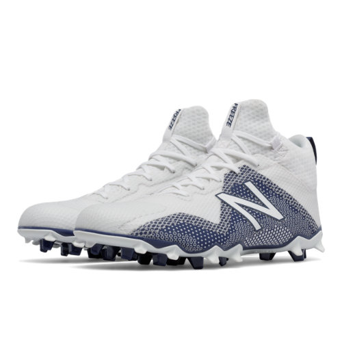 New Balance FreezeLX Men's Lacrosse Shoes - White / Blue (FREEZPB)