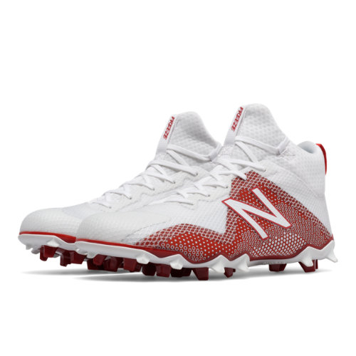 New Balance FreezeLX Men's Lacrosse Shoes - White / Red (FREEZRD)