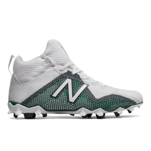 New Balance FreezeLX Cleat Men's Lacrosse Shoes - White / Green (FREEZTG)