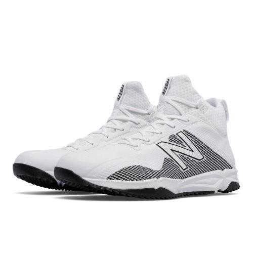 New Balance FreezeLX Turf Men's Lacrosse Shoes - White / Silver (FREEZTWT)
