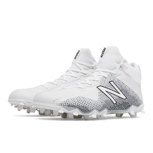 New Balance FreezeLX Men's Lacrosse Shoes - White / Black (FREEZWT)
