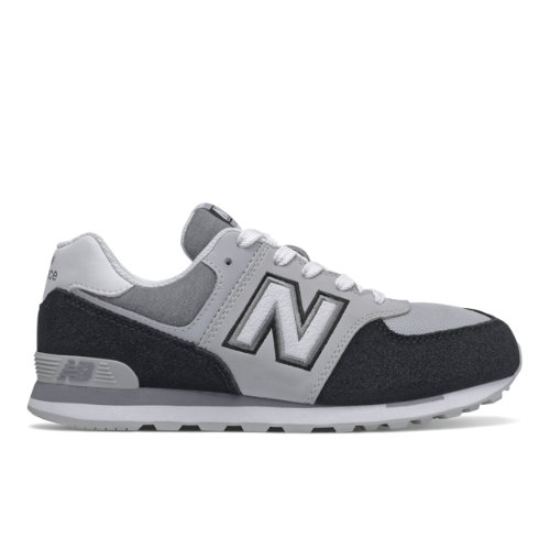 New Balance 574 Varsity Sport Kids Grade School Lifestyle Shoes - Black / Grey (GC574NLC)