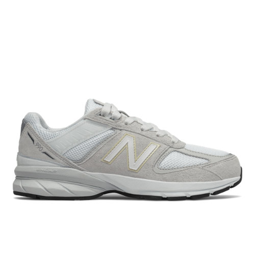 New Balance 990v5 Kids Grade School Lifestyle Shoes - Grey (GC990NA5)