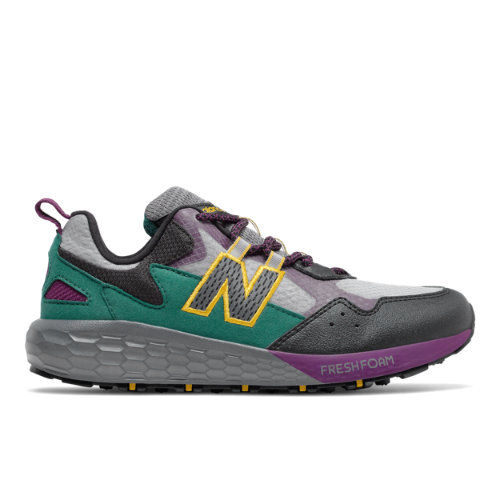 New Balance Fresh Foam Crag Kids Running Shoes - Grey (GECRGLC2)