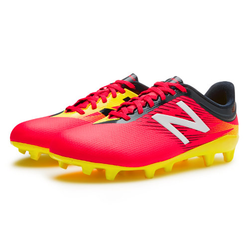 New Balance Junior Furon 2.0 Dispatch FG Kids Grade School Sports Shoes - Red / Navy / Yellow (JSFUDFCG)
