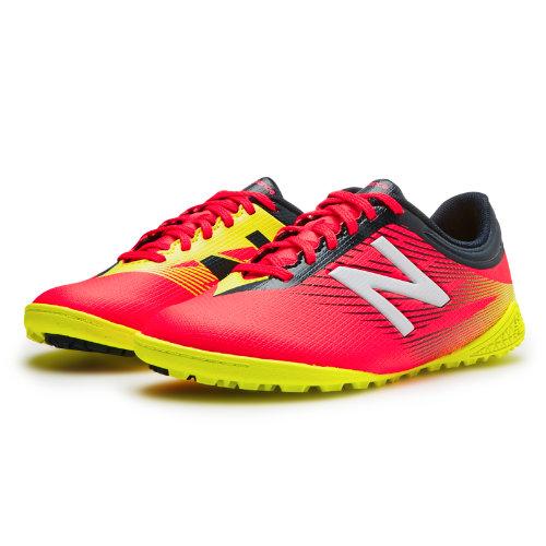 New Balance Junior Furon 2.0 Dispatch TF Kids Grade School Sports Shoes - Red / Navy / Yellow (JSFUDTCG)