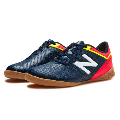 New Balance Junior Visaro Control IN Kids Visaro Shoes - Navy / Red / Yellow (JSVRCIGC)