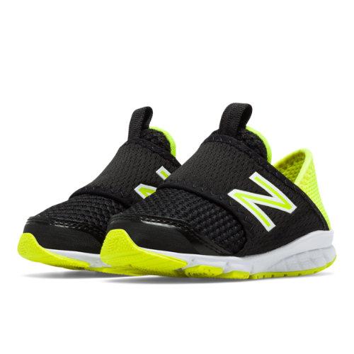 New Balance 150 Slip On Kids Infant Running Shoes - Black / Yellow (K150SBYI)