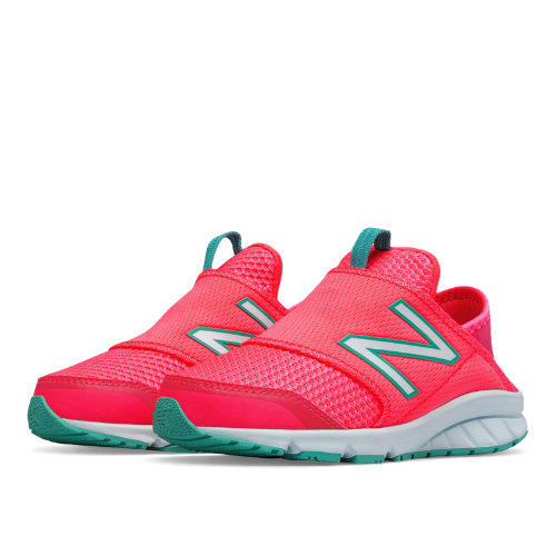 New Balance 150 Slip On Kids Grade School Running Shoes - Pink / Green (K150SPGY)