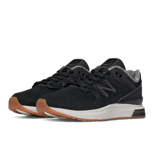 New Balance 1550 Suede Kids Grade School Lifestyle Shoes - Black (K1550SBG)
