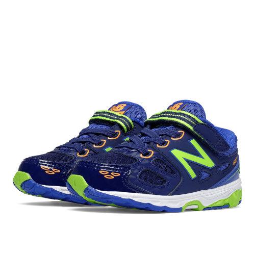 New Balance Hook and Loop 680v3 Kids Infant Running Shoes - Blue / Green (KA680BTI)