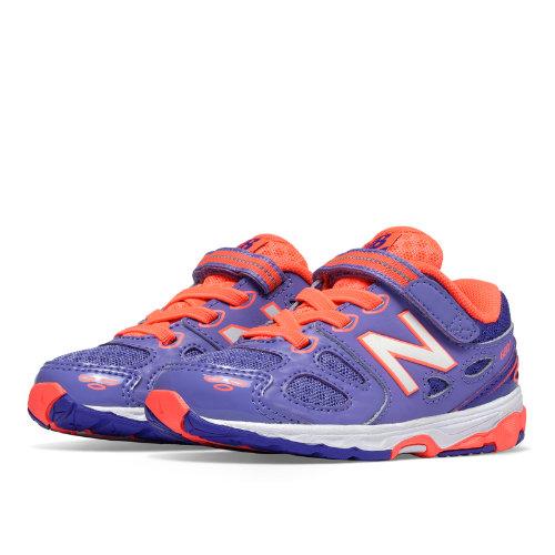 New Balance Hook and Loop 680v3 Kids Infant Running Shoes - Purple / Orange (KA680PCI)