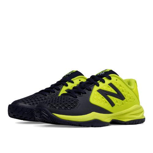 New Balance 996v2 Kids Grade School Sports Shoes - Yellow / Navy (KC996YG2)