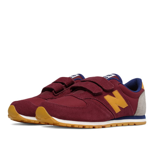 New Balance 420 Hook and Loop Kids Grade School Lifestyle Shoes - Red / Yellow (KE420BYY)