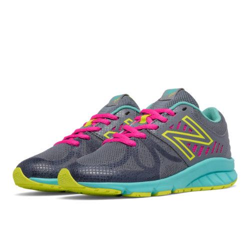 New Balance 200 Kids Pre-School Running Shoes - Grey / Blue (KJ200RMP)
