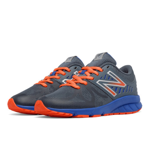 New Balance 200 Kids Pre-School Running Shoes - Grey / Orange (KJ200ROP)