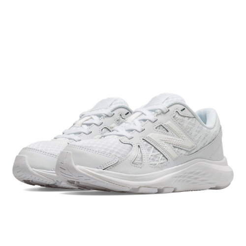 New Balance 690v4 Kids Grade School Running Shoes - White (KJ690TWY)