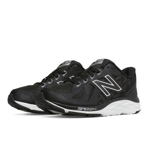 New Balance 790v6 Kids Grade School Running Shoes - Black / White (KJ790BKY)