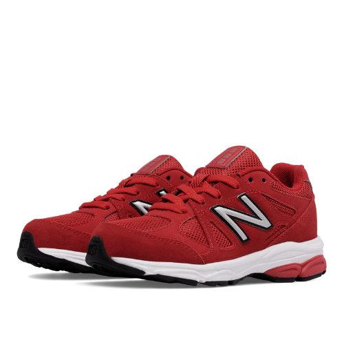 New Balance 888 Kids Pre-School Running Shoes - Red / White (KJ888BFP)