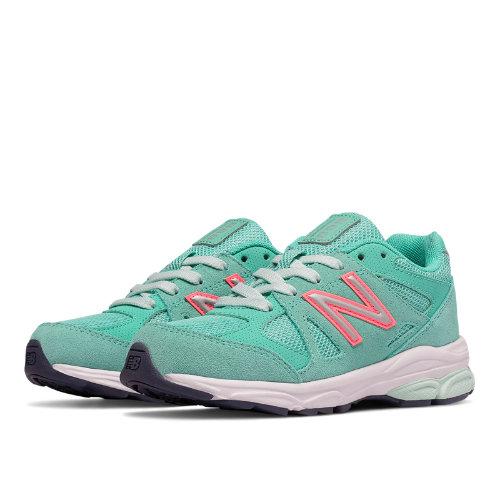 New Balance 888 Kids Pre-School Running Shoes - Green / Pink (KJ888GGP)