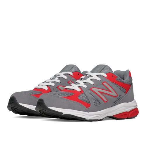 New Balance 888 Kids Grade School Running Shoes - Grey / Red (KJ888GRG)