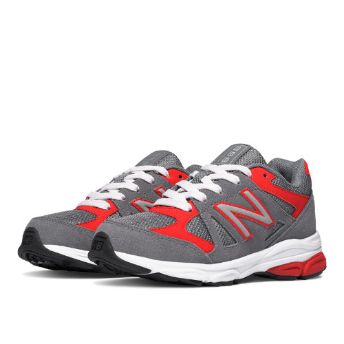New Balance 888 Kids Pre-School Running Shoes - Grey / Red (KJ888GRP)