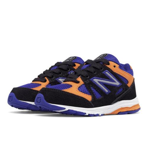 New Balance 888 Kids Infant Running Shoes - Black / Blue / Orange (KJ888NKI)