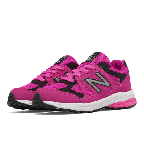 New Balance 888 Kids Grade School Running Shoes - Pink / Black (KJ888PBG)