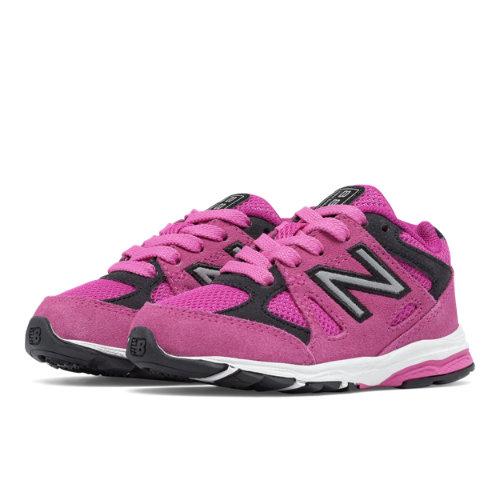 New Balance 888 Kids Infant Running Shoes - Pink / Black (KJ888PBI)