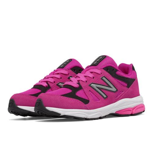 New Balance 888 Kids Pre-School Running Shoes - Pink / Black (KJ888PBP)
