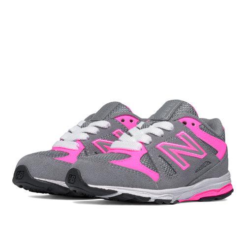 New Balance 888 Kids Infant Running Shoes - Grey / Pink (KJ888PKI)