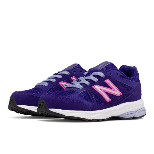 New Balance 888 Kids Grade School Running Shoes - Purple / Pink (KJ888PPG)