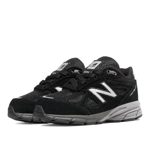 New Balance 990v4 Kids Infant Running Shoes - Black (KJ990BSI)